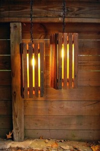 Instructions of how to make a lamp with wooden pallets
