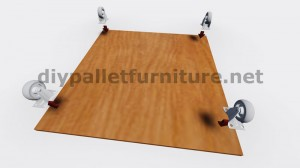 Plans and instructions of how to build a table with fruit boxes 2