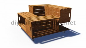 Plans and instructions of how to build a table with fruit boxes 4