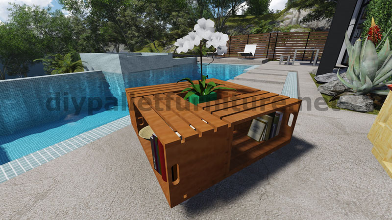 how to build a table with pallets