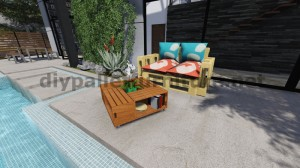 Plans and instructions of how to build a table with fruit boxes 7