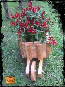 Planter with a wheelbarrow made ​​of pallets 2