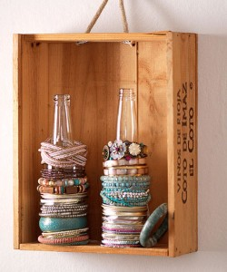 Several original ideas of shelves made from wine box