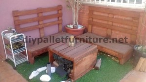 Sofa and table for the terrace made ​​with pallets 3