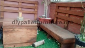 Sofa and table for the terrace made ​​with pallets 4