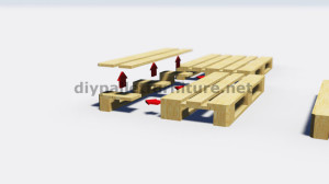 Step by Step instructions of how to make a table with 3 pallets 3