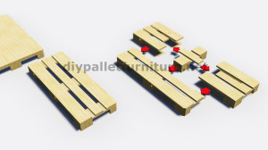 Step by Step instructions of how to make a table with 3 pallets 5
