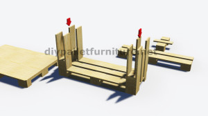 Step by Step instructions of how to make a table with 3 pallets 6