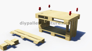 Step by Step instructions of how to make a table with 3 pallets 7