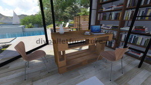 Step by Step instructions of how to make a table with 3 pallets 8