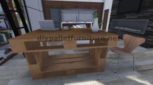Step by Step instructions of how to make a table with 3 pallets 9