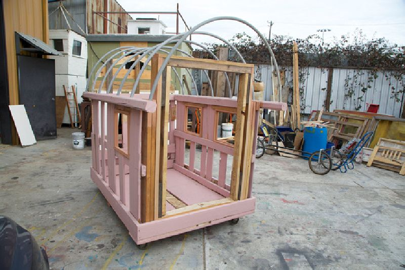 an artist creates mobile homes from pallets for homeless people 8 artist creates mobile homes