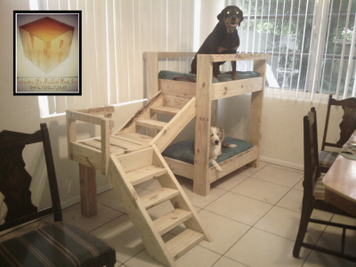 Bunkbeds for dogs made ​​with pallets