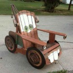 Characterize a chair made with pallets
