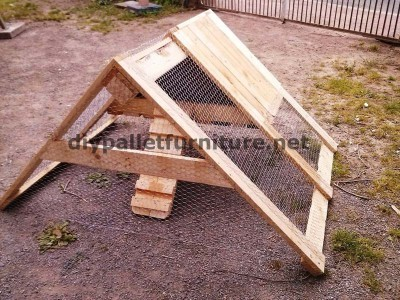 Coop built with pallet boards 4
