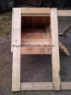 Coop built with pallet boards 5