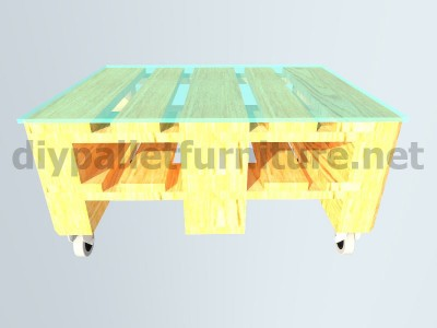 Garden kit furniture a table with just one europalet 7