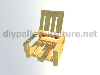 Garden kit furniture outdoor armchair with pallets 10