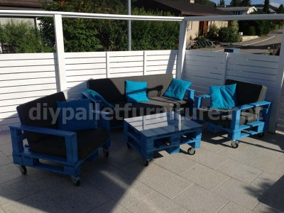 Garden kit furniture outdoor armchair with pallets