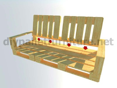 Garden kit furniture outdoor sofa with pallets 8