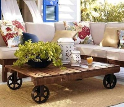 How to add wheels to a pallet table 1