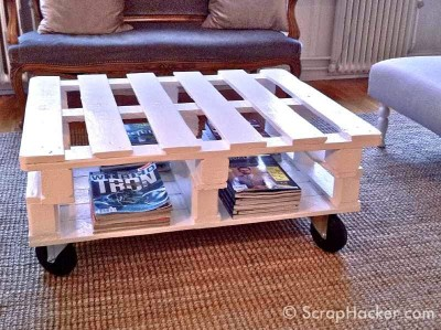 How to do a coffee table with two pallets 2