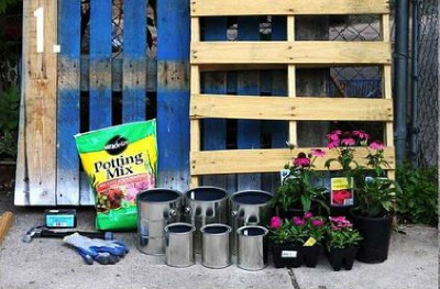How to make a nice garden with pallets 2