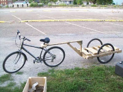How to make a pallet trailer for a bicycle