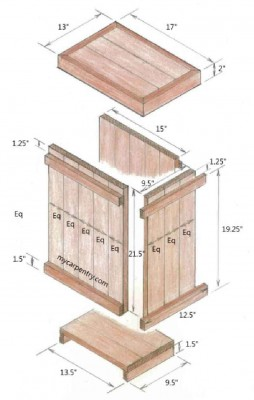 How to make a side table and a decorative box with pallets 4 254x400 How to make a side table and a decorative box with pallets