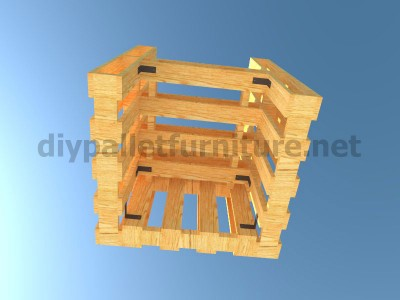 Plans and instructions for making a chair with 4 pallets_11