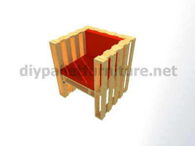Plans and instructions for making a chair with 4 pallets_12