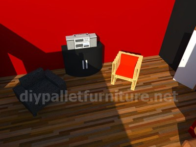 Plans and instructions for making a chair with 4 pallets_13