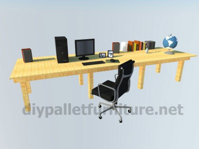 Plans and instructions of how to do a desk with pallets 9