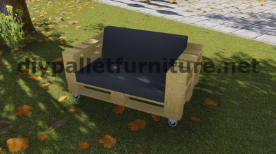 Sofa made ​​with just 3 Europallets 10