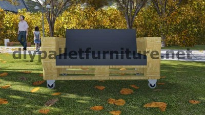 Sofa made ​​with just 3 Europallets 11