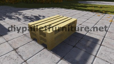 Sofa made ​​with just 3 Europallets 3