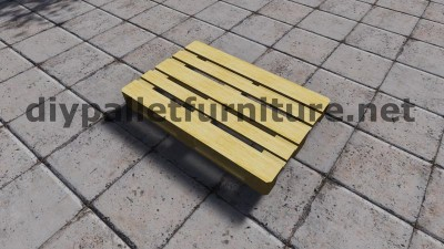 Sofa made ​​with just 3 Europallets 4