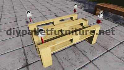 Sofa made ​​with just 3 Europallets 8