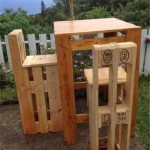 Step by Step instructions of how to make stools with pallets