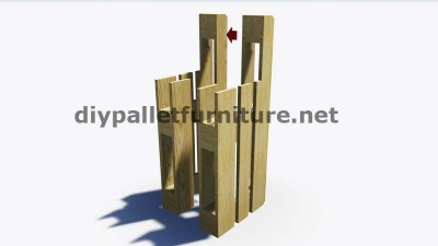 Step by Step instructions of how to make stools with pallets 6