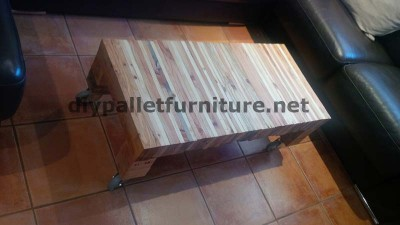 Table for your living room made ​​of planks from dismantled pallets 4