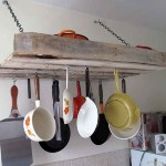 How to make a furniture for hanging our kitchen utensils with one pallet
