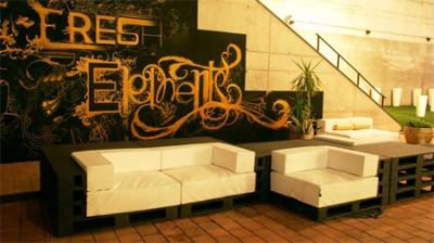 Elegant design furniture made from pallets 5