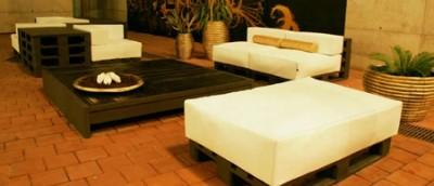 Elegant design furniture made from pallets 6