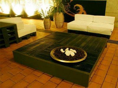 Elegant design furniture made from pallets
