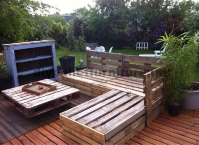 Garden Lounge made with pallets 4
