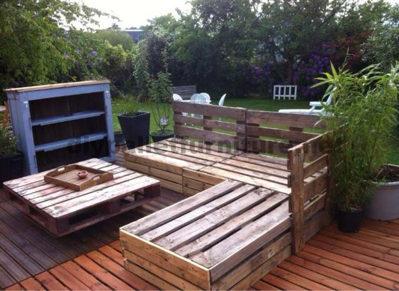 garden lounge made with pallets 4diy pallet furniture