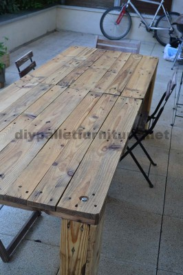 How to easily make a table with a Europallet