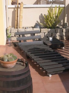 How to make a deck chair with pallets, drawings and instructions 10