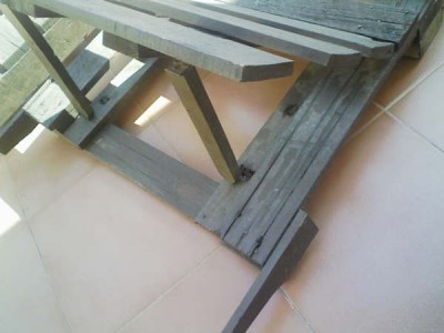 How to make a deck chair with pallets, drawings and instructions 4
